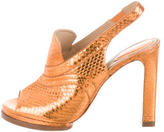 Chloé Metallic Snakeskin Pumps