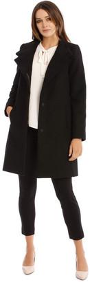 Basque Funnel Neck Coat
