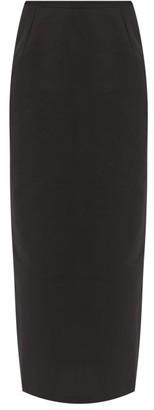 BERNADETTE Norma High-rise Taffeta Pencil Skirt - Black