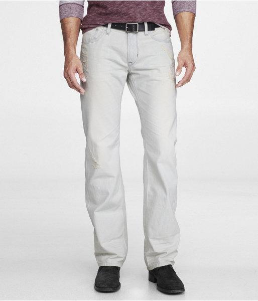 Express Rocco Slim Fit Straight Leg Jean - Engineer Stripe