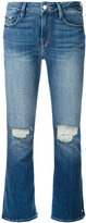 Frame cropped flared denim jeans - women - Cotton/Spandex/Elastane/polyester - 26