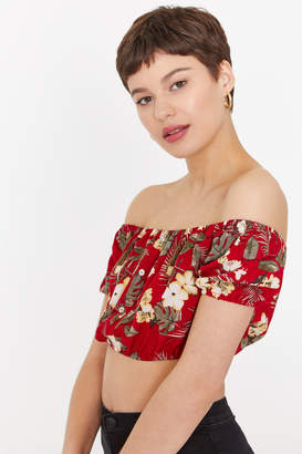 Ardene Floral Off Shoulder Crop Top