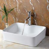 Elite Ceramic Rectangular Vessel Bathroom Sink Drain