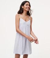LOFT Shimmer Stripe Pajama Dress