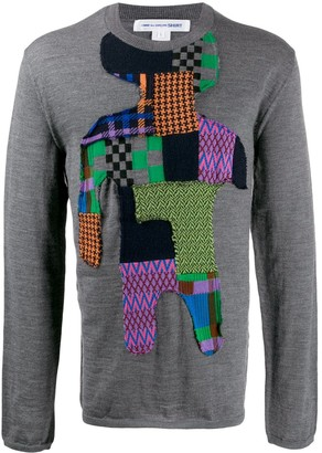 Comme des Garcons patchwork knit jumper