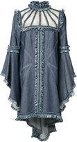 Andrew Gn ruffle dress - women - Silk/Cotton - 4
