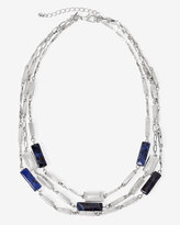 White House Black Market Sodalite Rectangle Multi-Row Necklace