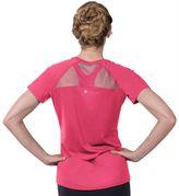 Soybu Women's Endurance Peek-A-Boo Racerback Short Sleeve Tee