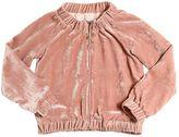 Ermanno Scervino Velvet Zip-Up Sweatshirt