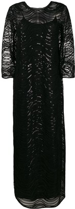 Emporio Armani Sequin-Embellished Gown
