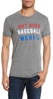 Original Retro Brand Men's Hot Dogs, Baseball & 'Merica T-Shirt