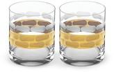 Michael Wainwright Truro Platinum Double Old Fashioned Glass, Set of 2