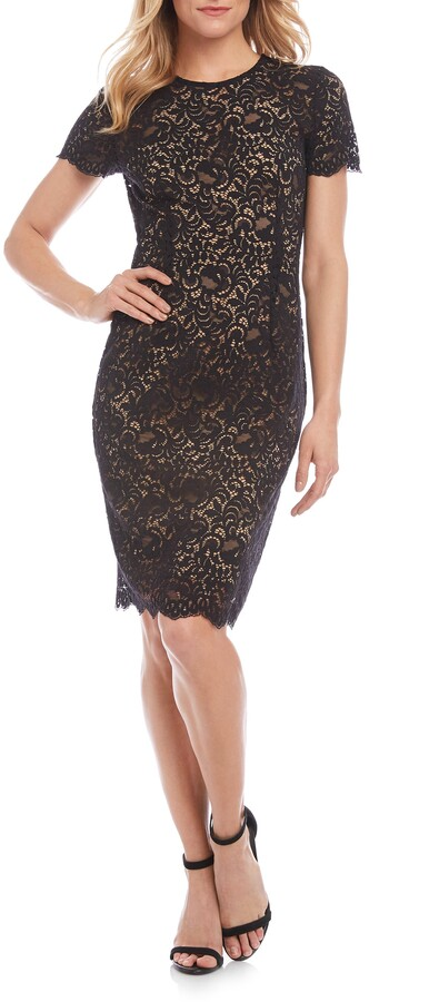 Karen Kane Paris Lace Cocktail Dress