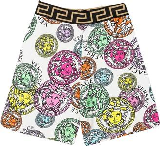 Versace Multicolor Print Shorts