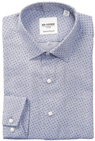 Ben Sherman Textured Dotted Print Trim Fit Dress Shirt