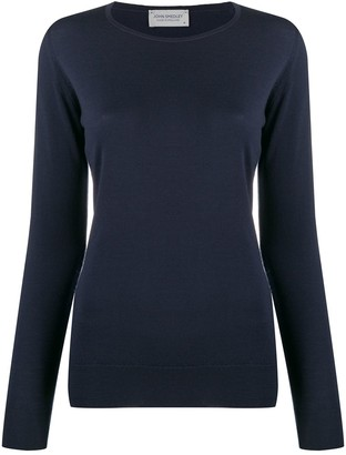 John Smedley Fitted Round-Neck Pullover