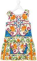 Dolce & Gabbana floral printed gathered dress