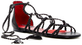 Charles Jourdan Iggy Woven Wrap-Around Sandal