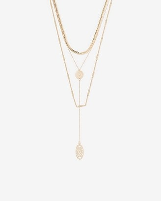 Express Multi-Chain Layered Filigree Necklace
