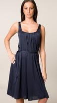 Twelfth Street Navy Pleated Tank Dress