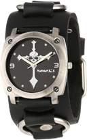 Nemesis Men's RB927K Skull Cross Watch