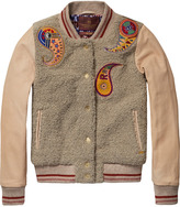 Scotch & Soda Teddy & Leather Varsity Jacket