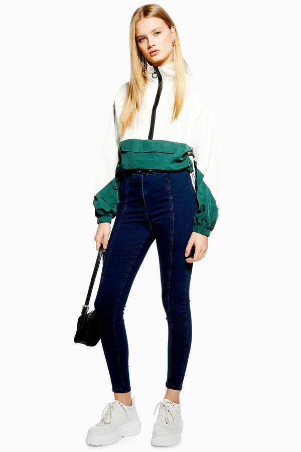 Topshop Womens Indigo Tab Joni Jeans - Indigo