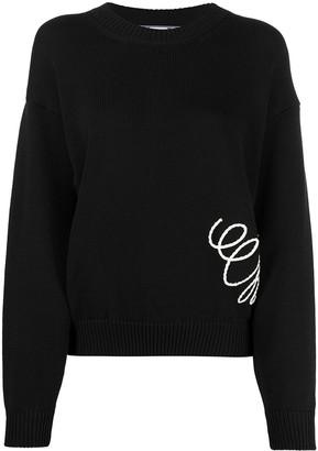 Off-White Graphic-Print Knitted Sweatshirt