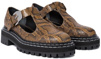 Proenza Schouler Snake-effect leather Mary Janes