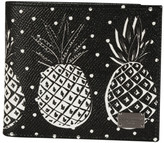 Dolce & Gabbana Pineapple Print Billfold Wallet