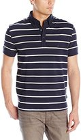 Nautica Men's Striped Short Sleeve Polo Shirt