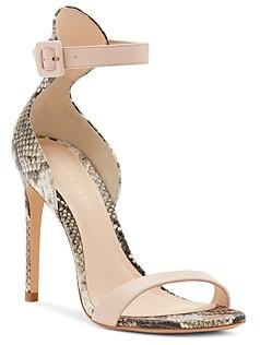 Sophia Webster Women's Nicole 100 Snake-Embossed High-Heel Sandals