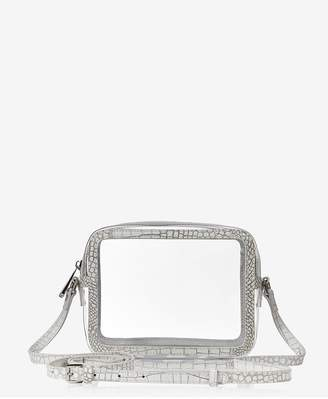 GiGi New York Collins Crossbody In Clear Bag With Silver Camo Trim