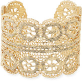 Lydell NYC Filigree Unique Cuff Bracelet, Gold