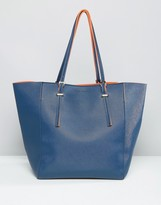French Connection Large Shopper Bag with Contrast Lining