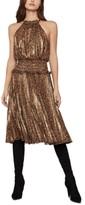 BCBGMAXAZRIA Leopard-Print Crinkle Dress