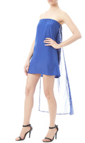 W Blue High Low Dress