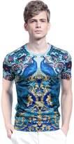 FANZHUAN Mens T Shirts Printed Designer Mens T Shirts T-Shirt Men Slim Fit T Shirts for Men Novelty