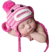 Melondipity Baby Hats Melondipity's Striped Sock Monkey Baby Hat - Baby Girls