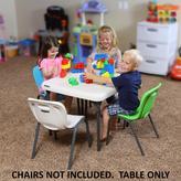 Lifetime Children's 24 in. W Square Folding Table in Almond