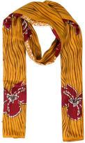 Lanvin Silk Floral Printed Scarf