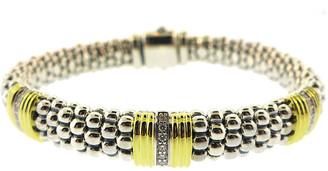 Lagos Caviar Lux 18K & Silver 0.19 Ct. Tw. Diamond Bracelet