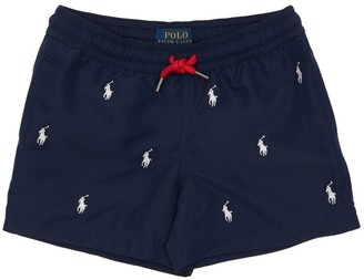 Ralph Lauren Logo Embroidered Nylon Swim Shorts