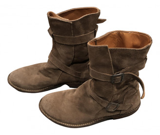 Fiorentini+Baker Camel Suede Boots