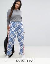 Asos Mixed Print Peg Pants