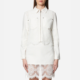 McQ by Alexander McQueen Women's Hybrid Lace Bomber Jacket Ivory
