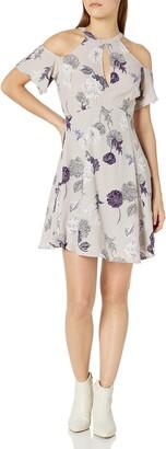 ASTR the Label Women's Zoe Floral Print Cold Shoulder Dress
