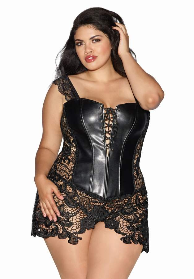 7baf9769b Lace Up Leather Corset - ShopStyle Canada