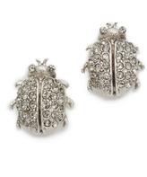 Oscar de la Renta Crystal Bug Button Earrings