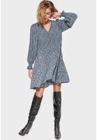 Thumbnail for your product : Le Temps Des Cerises Printed Mini Dress with V-Neck